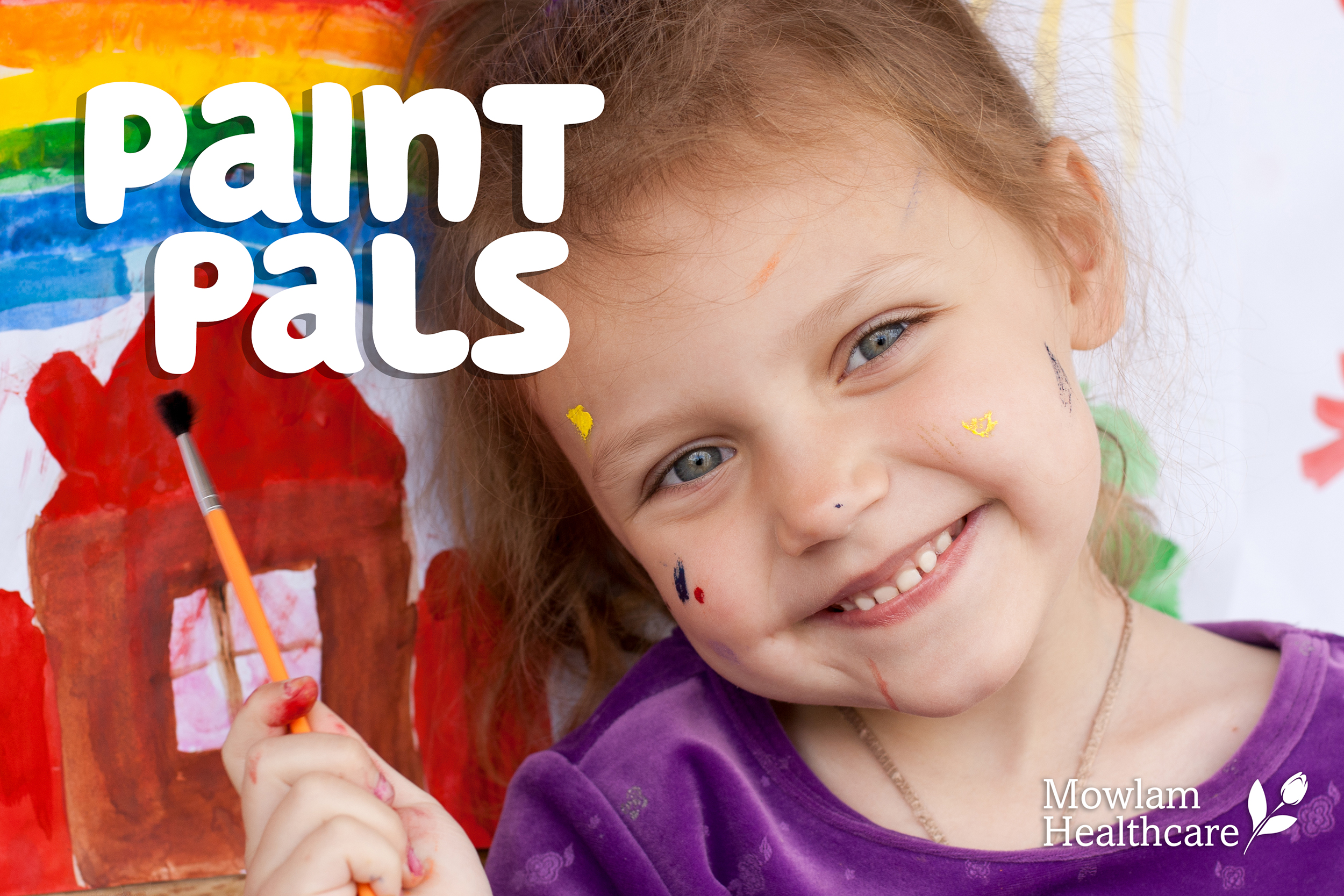 paint pals, intergenerational, art, painting, drawing, nursing homes, nursing home, covid, visitor restrictions, NHI, mowlam, mowlam healthcare
